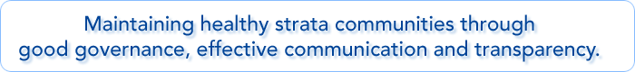 Maintaining healthy strata communities through